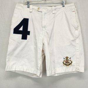Polo Ralph Lauren Mens 38x10L White Cargo Shorts